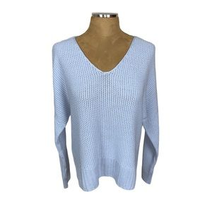 NWT Lucky Brand Knit Drop Shoulder V Neck Sweater